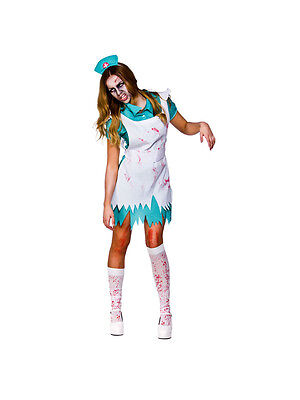 Adult Bloodthirsty Nurse Horror AE Fancy Dress Costume Ladies Womens Female BN](Female Horror Costumes)