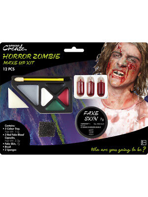 Blood Gore Make Up Kit Zombie Fancy Dress Accessory Adults (Halloween Gore-make-up)