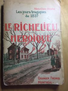 Livre ancien : Le Richelieu héroïque de Marie-Claire Daveluy