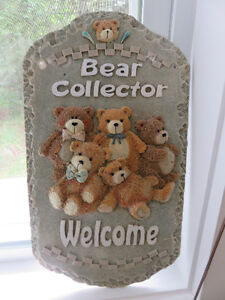 Bear Collector Welcome Plaque-PRICE REDUCED