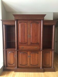 Custom Cherry Oak Wall Unit *Over 8k New*