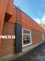Commercial/Industrial Railings, Roof Ladders, Gates, Fences