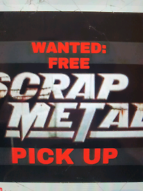 07379800190 FREE SCRAP METAL COLLECTION RUBBISH PICK UP