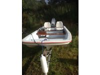 13 ft dory trailer and 40hp engine