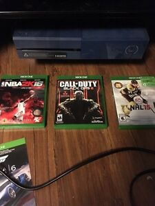 Xbox One with games for PS4