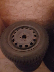 4 Winter Tires on Rims REDUCED to $75