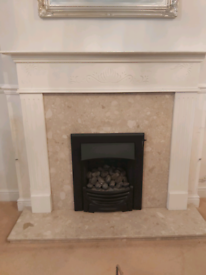 Gas fire and fire place