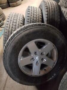 2007-2018 Jeep Wrangler winter rim/tire package