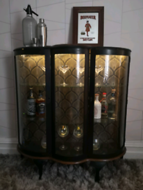 Refurbished glass gin/display cabinet
