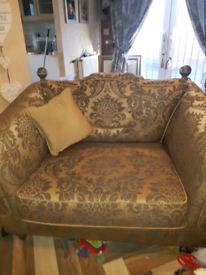 Ashley manor 4 seater cuddle chair and poufee