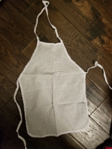 BRAND NEW IN PLASTIC! Baby White Aprons