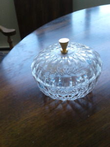 Small covered glasscandy dish