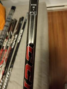Hockey sticks - right handed - pro stock - ccm rbz & warrior evo