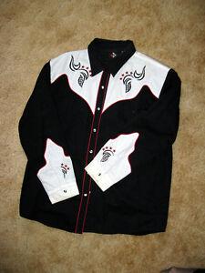 Ladies Cowboy Shirt - Size L $5