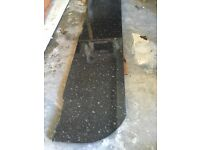 Black worktop used , ideal for garage 2.4 meters long