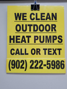We Hand Clean Outdoor Heat Pumps , We are LOCAL