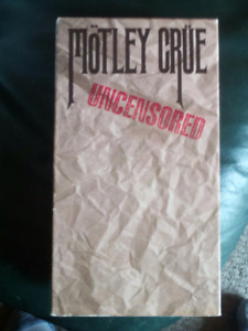 MOTLEY CRUE UNCENSORED VHS  VIDEO CASSETTE