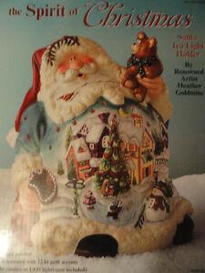 """Boujeoir """" Père Noël """" fait par l'artiste """" Heather Goldmine """"."""