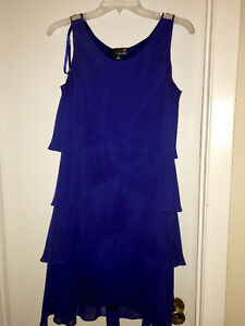 Navy blue tier dress from Laura's