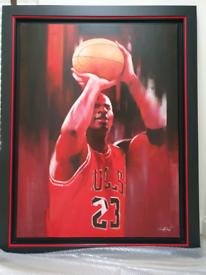 Oil painting Michael Jordan
