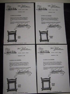 The Beatles Whittier Hotel Complete Replica Set ( 4 ) Bed Sheets From 1964 Stay