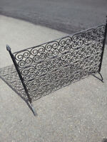 Ornate hand made fireplace grate