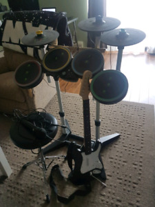 PS4 Rock band 4 full band kit + Accessories
