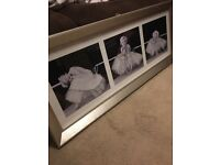 Marilyn Monroe Triple shot Ballerina print in frame