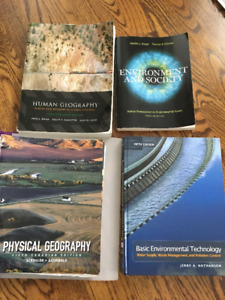 Various Used Geography and Environmental Resource Books for Sale