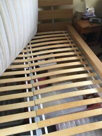 Superking bed frame, headboard & mattress (Ikea)