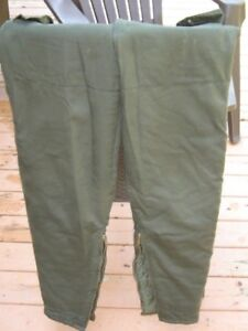 mens hunting fishing cargo insulated army green pants, size 34