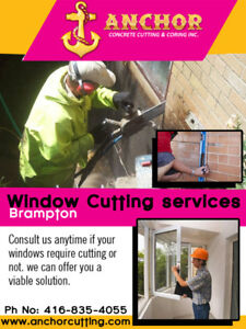 Window Cutting & Door Cutting | Anchorcutting.COM