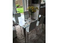 John lewis glass table and four chairs