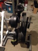 2 inch plates 385lbs with stand
