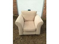 """Beige single seater sofa """"free delivery """" £25"""