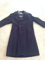 Cute navy size 11/12 D'allaird's wool/cashmere trench