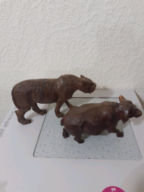 Solid wood animal ornaments