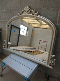 Mantle place mirror