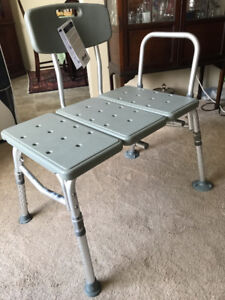 Complete new transfer shower bench