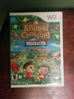 2 Wii Games Animal Crossing City Folk and The Grim adventures of