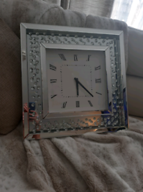 Large bling wall clock can deliver free