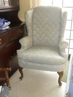 VINTAGE WING CHAIR MISSISSAUGA FURNITURE GYPSY WIND COLLECTIBLES