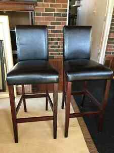 Quality Leather Bar / Counter Stools