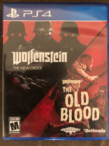 PS4 WOLFENSTEIN THE NEW ORDER/THE OLD BLOOD NEW (UNWRAP)