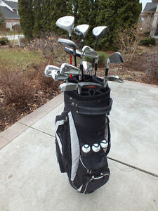 Right Handed 14pcs Golf Club Set with Custom Cart Bag