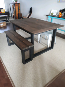 5 foot solid wood farm table