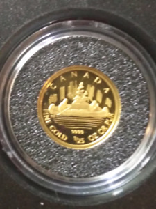 2005 1/25oz Gold Coin - Voyageur design