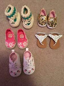 Baby girl size 1 shoe lot