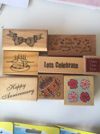 Wooden card craft stamps