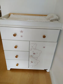 Excellent condition solid white changing table